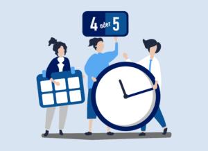 Illuistration Arbeitszeitmodell bei ConMoto