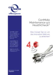 Titelblatt der ConMoto-HealthCheck-Broschüre