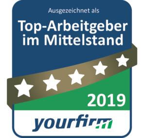 ConMoto Top Arbeitgeber 2019 bei yourfirm