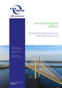 Titelbild ConMoto Broschüre Investitionsgüter Einkauf